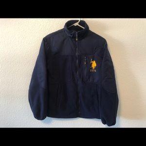 USPA Polo Assn Zip Up Fleece Jacket Size Medium